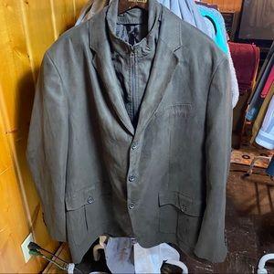 Tasso Elba convertible suede jacket, size XL